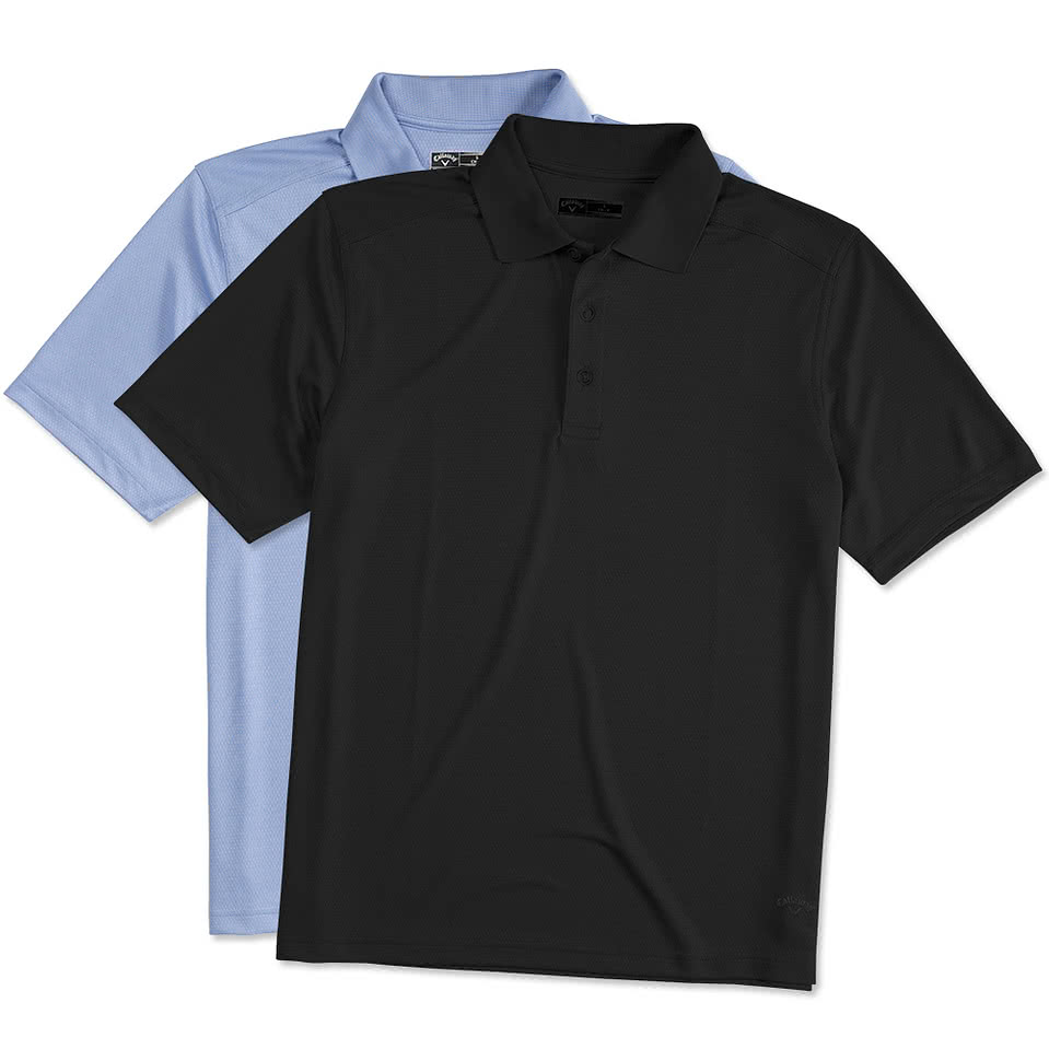 Design custom embroidered callaway performance polo online for Custom embroidered t shirts no minimum