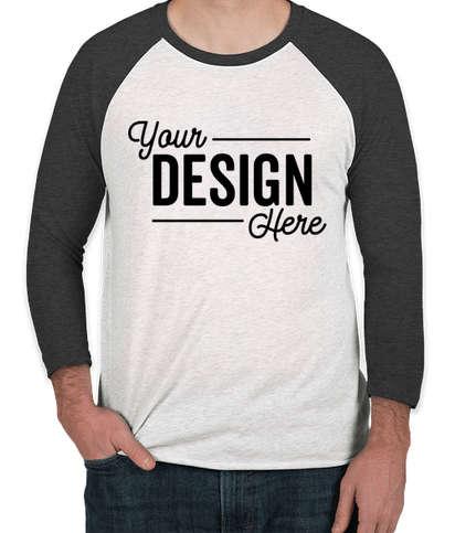 Next Level Tri-Blend Raglan T-shirt - Vintage Black / Heather White