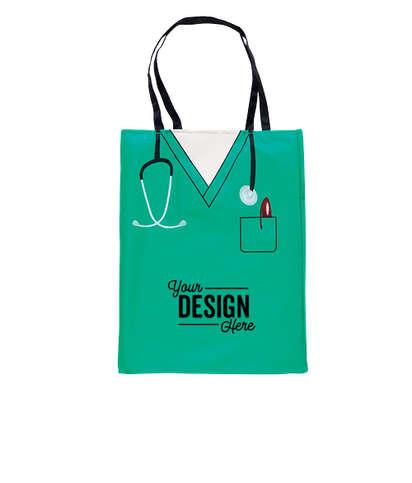 Convertible Scrub Design Tote Bag - Green