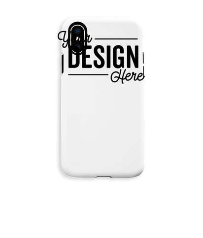 Full Color iPhone X Tough Phone Case - White