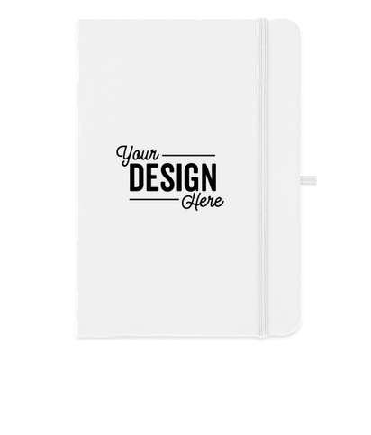Medium Hard Cover Notebook - White