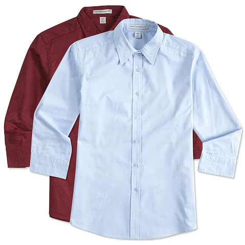 Port Authority Women's 3/4 Sleeve Easy Care Twill Shirt