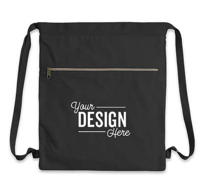 Midweight Pigment Dyed Canvas Drawstring Bag - Washed Black