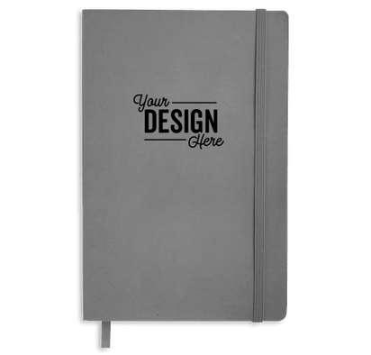 JournalBooks ® Debossed Pedova Soft Bound Notebook - Gray