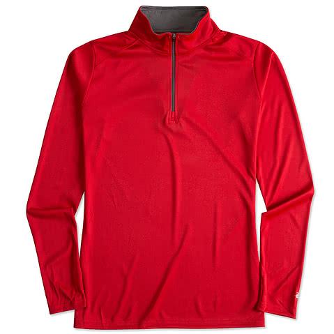 Badger Women's Contrast Quarter Zip Performance Shirt