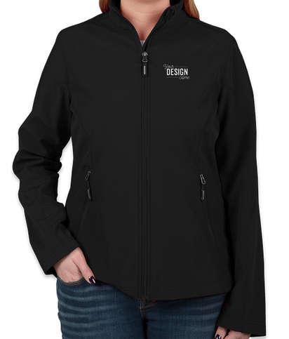 Core 365 Women's Fleece Lined Soft Shell Jacket - Black
