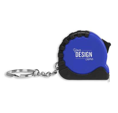 Pocket Pro Tape Measure Keychain - Blue