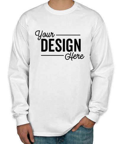 Canada - Gildan Ultra Cotton Long Sleeve T-shirt - White