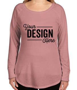 District Women's Tri-Blend Long Sleeve Tunic T-shirt