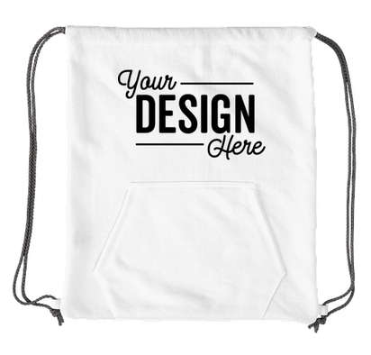 Port & Company Sweatshirt Drawstring Bag - White