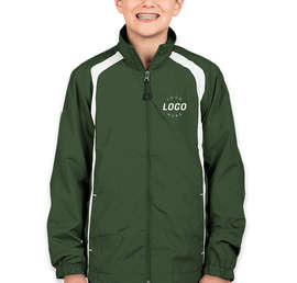 Sport-Tek Youth Full Zip Colorblock Warm-Up Jacket