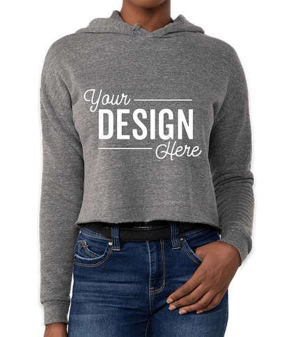 Royal Apparel Women's USA-Made Eco Tri-Blend Cropped Hoodie - Eco Tri Grey