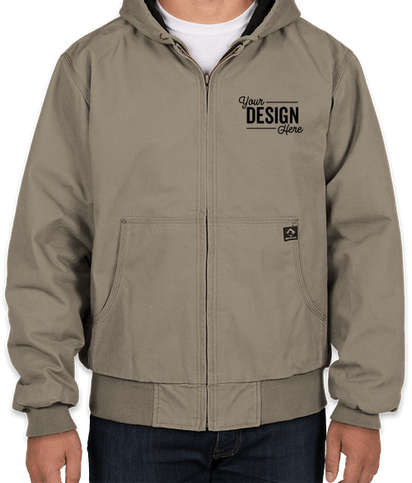 Dri Duck Cheyenne Hooded Boulder Cloth Work Jacket - Gravel