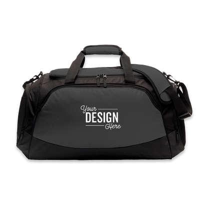 Port Authority Medium Active Duffel Bag - Embroidered - Dark Charcoal / Black