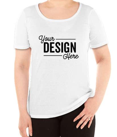 District Women's V.I.T. Ribbed Scoop Neck T-shirt - White