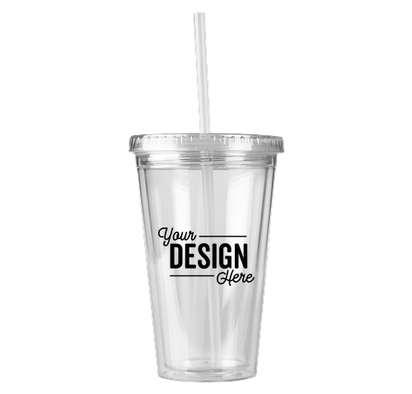 16 oz. Acrylic Cafe Tumbler - Clear