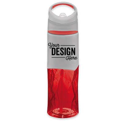 28 oz. Geometric Tritan Water Bottle - Red