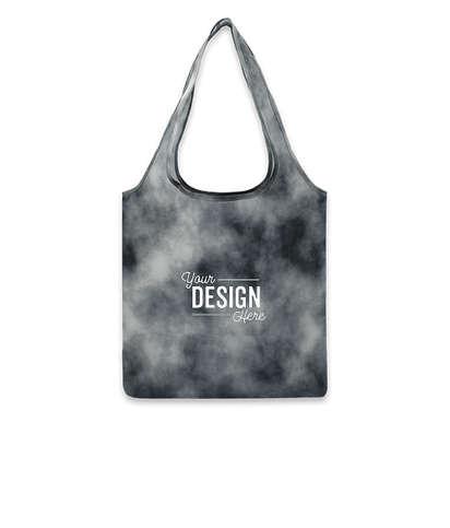 Tie-Dye Shopper Tote Bag - Black