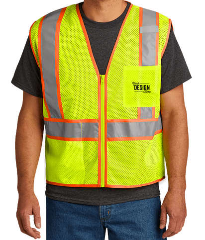 CornerStone Class 2 Two-Tone Mesh Safety Vest - Safety Yellow