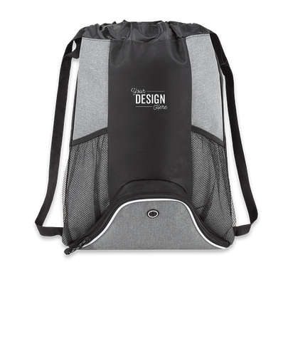 Corona Deluxe Drawstring Bag - Graphite