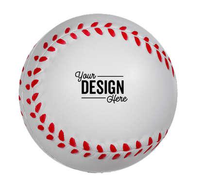 Baseball Stress Reliever - White