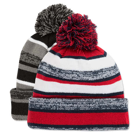 New Era Sideline Fleece Lined Pom Pom Beanie