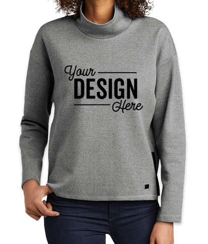 OGIO Women's Transition Cowl Neck Pullover - Petrol Grey Heather