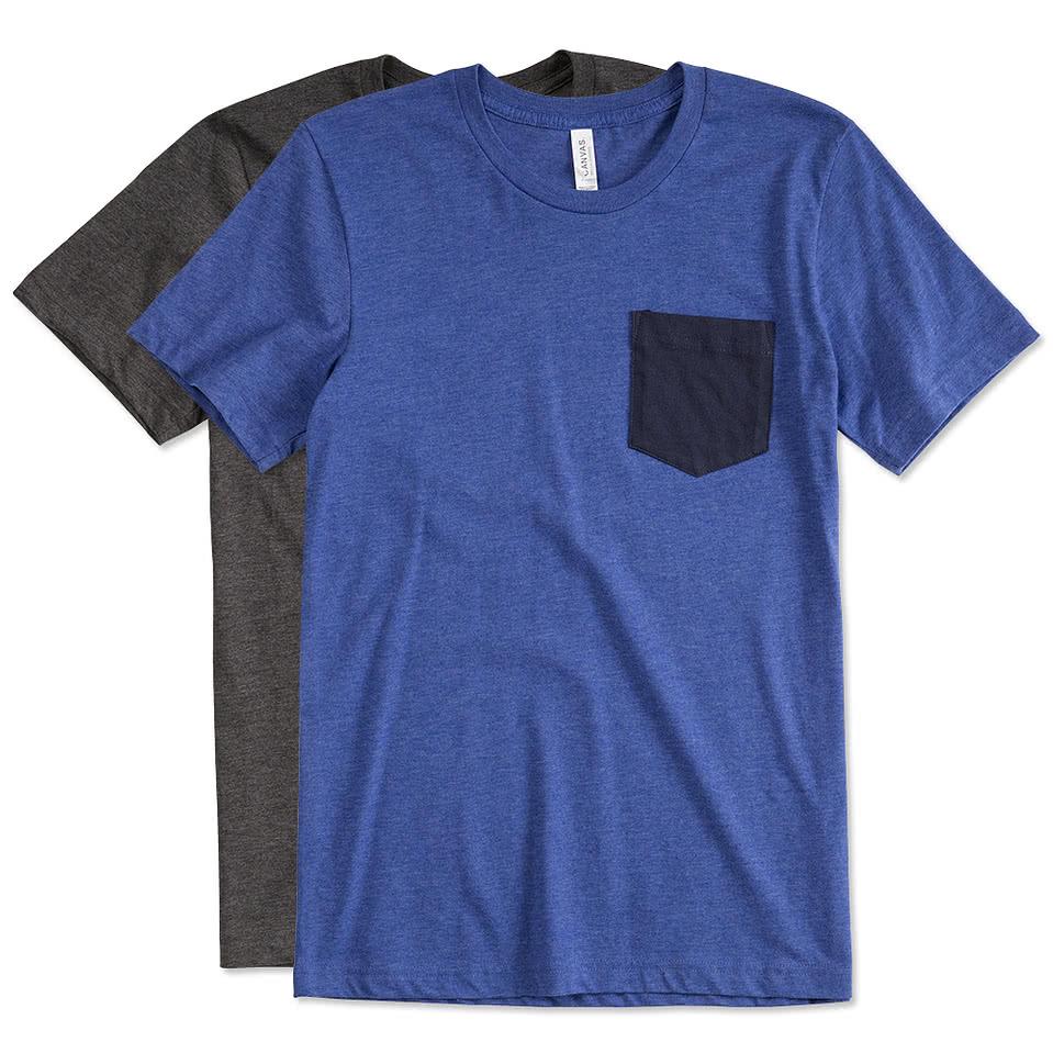 Design t shirt online tool - Canvas Jersey Contrast Pocket T Shirt