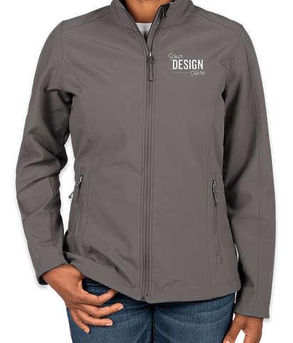 Port Authority Women's Core Fleece Lined Soft Shell Jacket - Deep Smoke