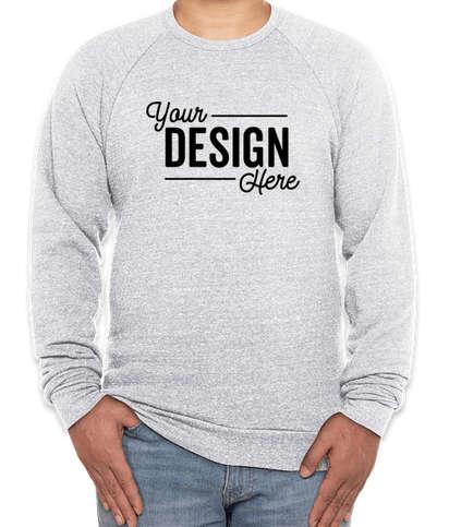 Royal Apparel USA-Made Tri-Blend Crewneck Sweatshirt - Tri Ash