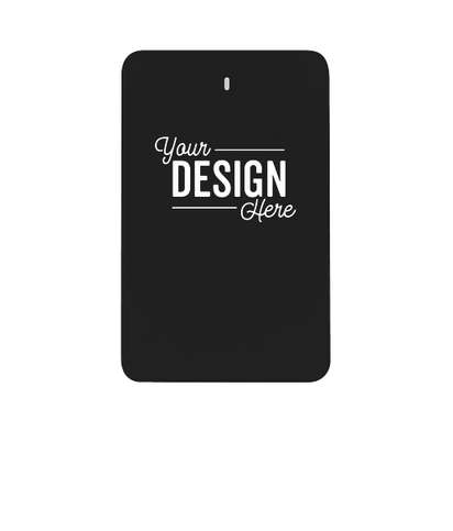 Full Color 3-in-1 Flip Power Bank - Black