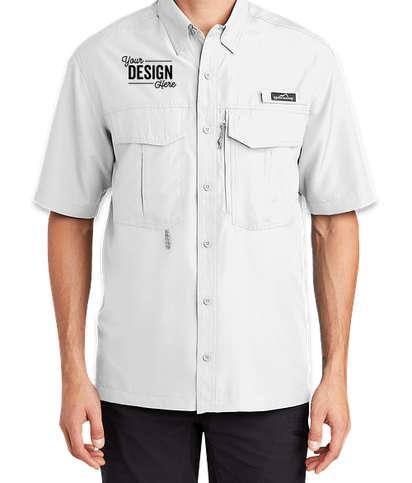 Eddie Bauer Performance Short Sleeve Fishing Shirt - White