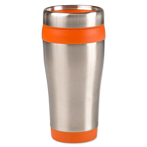 16 oz. Carmel Insulated Steel Travel Mug