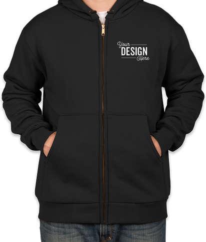 CornerStone Heavyweight Lined Zip Hooded Work Jacket - Black