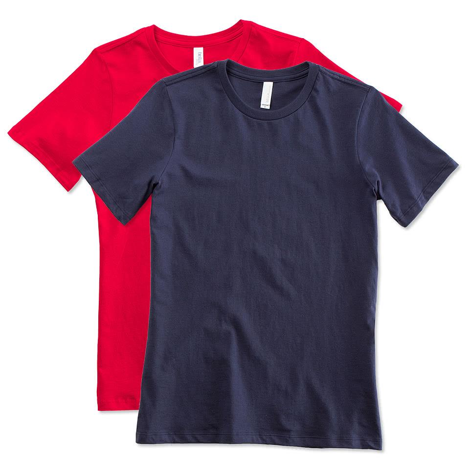 Custom canada bella ladies jersey t shirt design for Custom t shirts canada no minimum