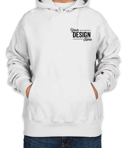 Embroidered Champion Heavyweight Reverse Weave Pullover Hoodie - White