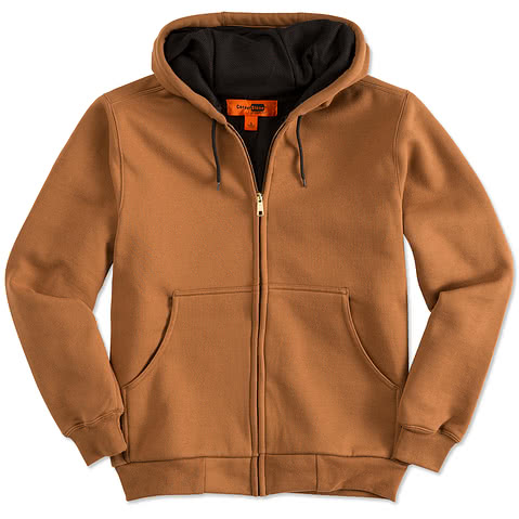 CornerStone Heavyweight Lined Zip Hooded Work Jacket