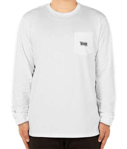 Vineyard Vines Long Sleeve Pocket T-shirt - White Cap