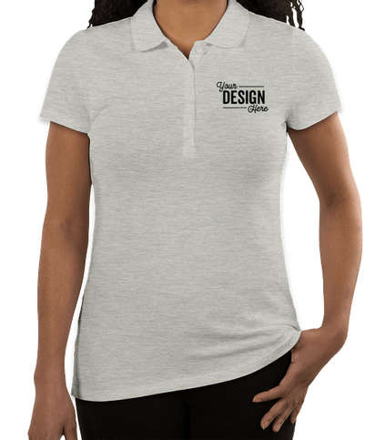 Tommy Hilfiger Women's Ivy Pique Polo - Light Grey Heather