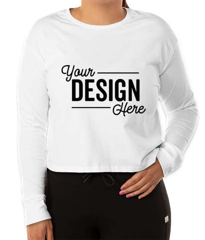 Next Level Women's Long Sleeve Crop T-shirt - White