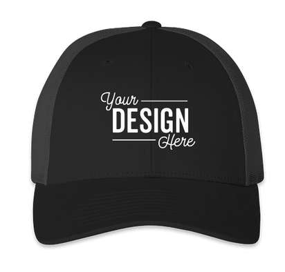Richardson Low Profile Trucker Hat - Black / Charcoal