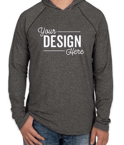Next Level Hooded Melange Long Sleeve T-shirt - Black