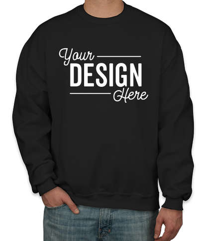 Jerzees Super Sweats 50/50 Crewneck Sweatshirt - Black
