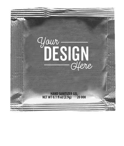 Sanitizer Gel Packet - Silver