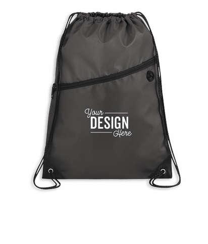 Robin Zipper Drawstring Bag - Charcoal