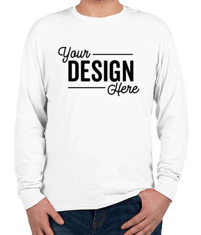 Hanes X-Temp Long Sleeve T-shirt - White