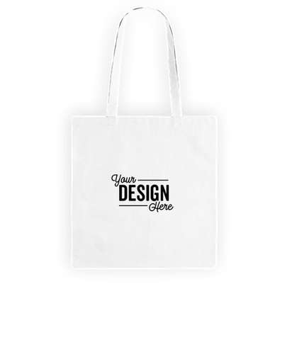 Promotional Non-Woven Convention Tote Bag - White