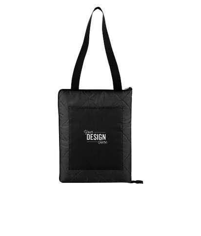 Fold Up Picnic Blanket - Black