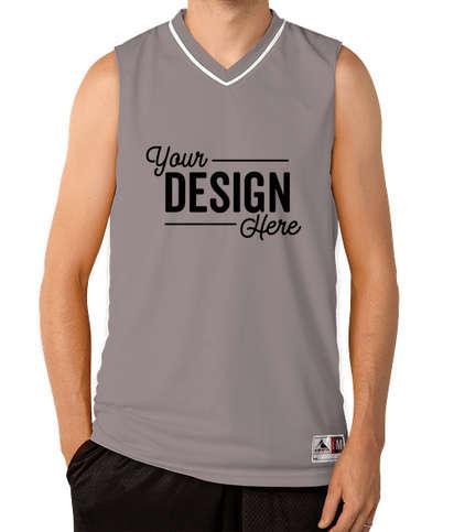 Augusta Reversible Basketball Jersey - Graphite / White