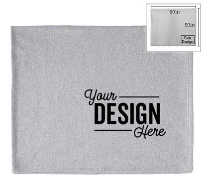 Port & Company Sweatshirt Blanket - Athletic Heather
